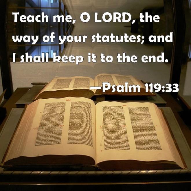 teach us o lord