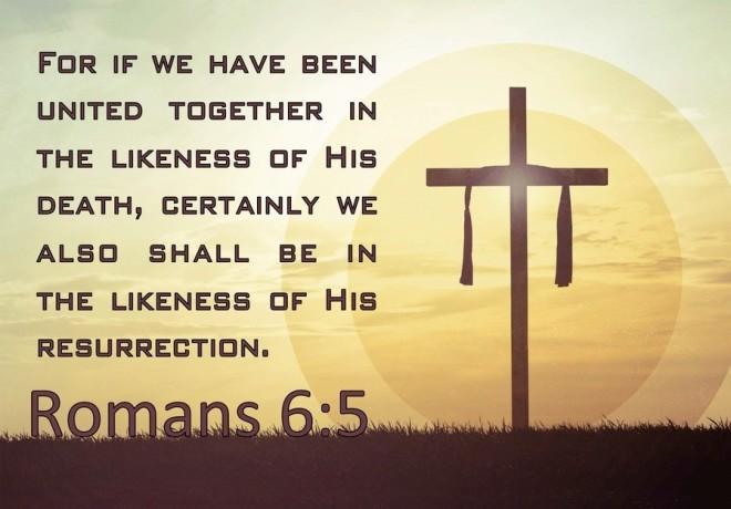 United in death like his and in resurrection