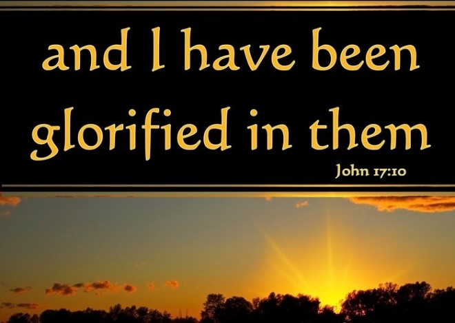 and I have been glorified in them