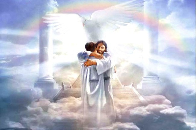 Jesus' embrace