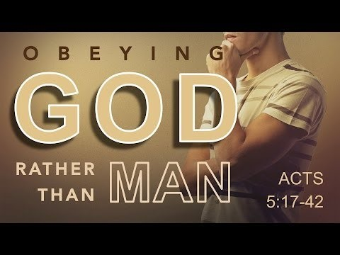 Obey God not man