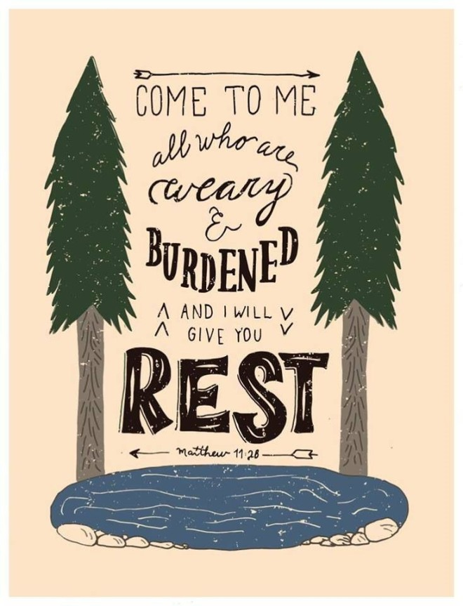 come weary and burdened