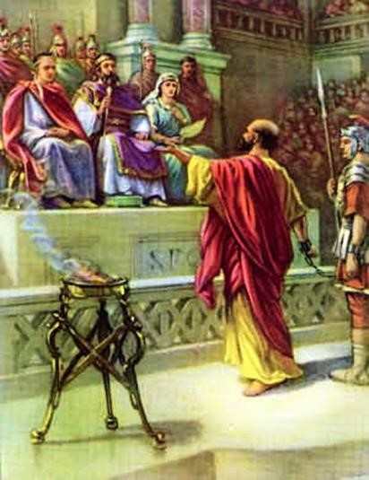 Paul defends before Agrippa