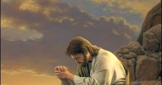 Jesus prays on mountain